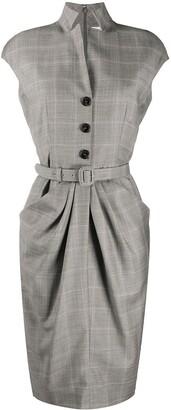 Christian Dior 2000 Check Print Dress
