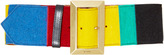 Etro Colorblock Leather Belt