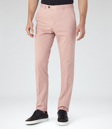 Reiss Reiss Paris - Slim Tailored Trousers In Pink, Mens