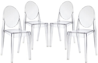 Modway Casper Dining Side Chairs Acrylic Set