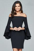 Faviana Off-Shoulder Short Crepe Dress s8076