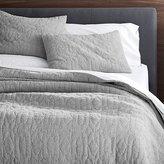 Crate & Barrel Delano Grey Quilts and Pillow Shams