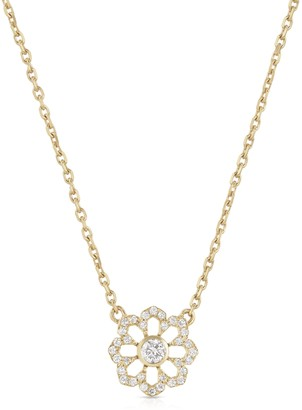 Noush 14ct Yellow Gold Fleur Du Ciel Necklace