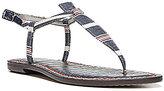 Sam Edelman Gigi Americana Multi Stripe T-Strap Sandals