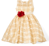 Gold Quilted Dress - Infant Toddler & Girls