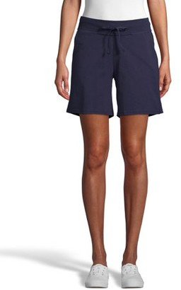 Hanes Womens Cotton Short with Pockets and Drawstring Waist
