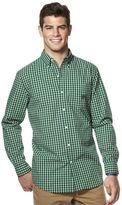 Chaps Big & Tall Plaid Button-Down Shirt