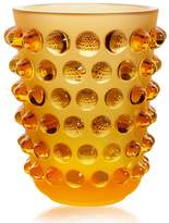 Lalique Mossi Vase Amber