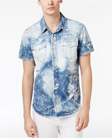 True Religion Men's Ryan Cotton Bleached Denim Shirt