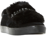 Dune Endless Faux Fur Embellished Trainers