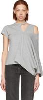 Facetasm Grey Asymmetry T-shirt