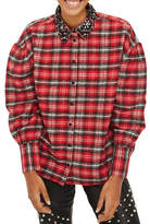 Topshop Embellished Collar Check Shirt