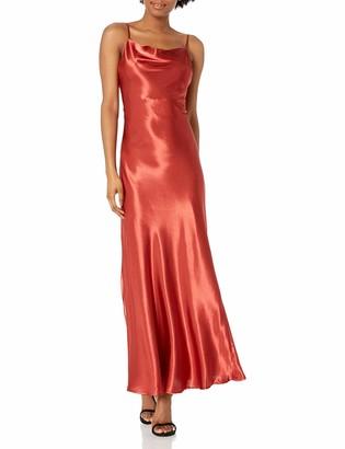 Bardot (BAU7N) Women's Draped Neckline Open Back with Adjustable tie Party Dress