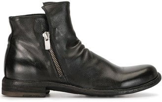 Officine Creative Weathered Zip-Up Boots