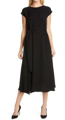 HUGO BOSS Dacari Tie Front Midi Dress