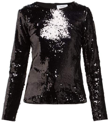 Racil Judy Sequin Embellished Top - Womens - Black