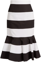 Dolce & Gabbana Striped stretch-cotton skirt
