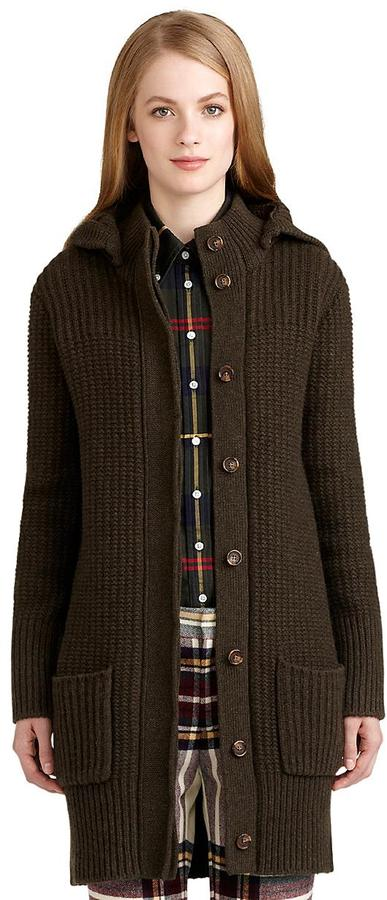 Brooks Brothers Fisherman Sweater Coat
