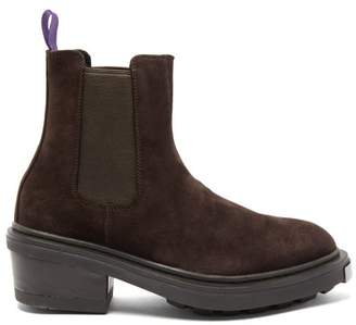 Eytys Nikita Point-toe Suede Chelsea Boots - Womens - Dark Brown