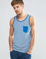 Blend of America Slim Stripe Tank One Pocket in Classic Blue