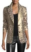 Berek Leopard-Print Coated Blazer, Plus Size