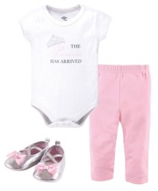 Little Treasure Baby Girl Bodysuit, Pants and Pair of Shoes Set