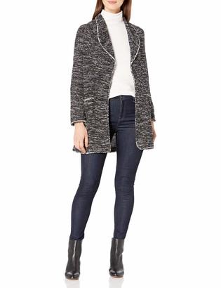 Max Studio Women's Long Sleeve Textured Knit Cardigan