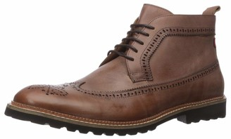 Marc Joseph New York Men's Genuine Leather Extra Lightweight Ankle Boot with Wingtip Detail