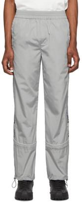C2H4 Grey 3M Logo Print Track Pants