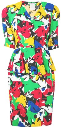 Guy Laroche Pre Owned 1980's Floral Two Piece Dress