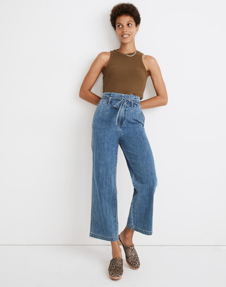 Madewell Paperbag Classic Straight Jeans in Bygrove Wash