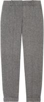 J.Crew Café herringbone wool Capri pants