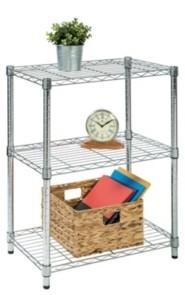 Honey-Can-Do 3-tier Chrome Shelving Unit