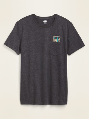 Old Navy Soft-Washed Embroidered-Graphic Tee for Men