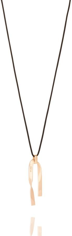 St. John Metal Twist Pendant Necklace