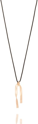 St. John Metal Twist Pendant Necklace