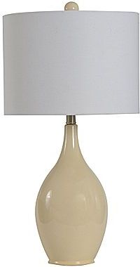 JCPenney Ivory Crackled Finish Ceramic Table Lamp