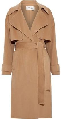 Diane von Furstenberg Fann Belted Wool-felt Coat