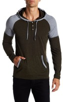 Kenneth Cole Reaction Long Sleeve Colorblock Henley Hoodie