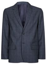 Topman Blue Basket Weave Check Blazer