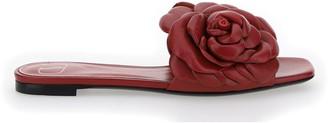 Valentino Floral Applique Sandals