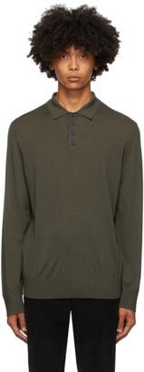 Ermenegildo Zegna Green Wool Knit Polo