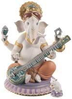 Lladro Veena Ganesha Porcelain Figure