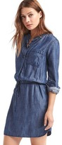 Gap Tencel® long sleeve shirtdress