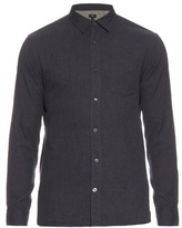 Vince Melrose Double-weave Cotton Shirt