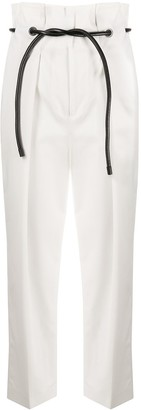 3.1 Phillip Lim Paperbag-Waist Cropped Trousers
