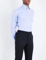 Turnbull & Asser Herringbone regular-fit cotrton-poplin shirt