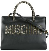 Moschino stud embellished logo tote