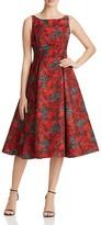 Adrianna Papell Petites Floral Jacquard Dress