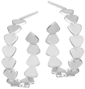 Jennifer Zeuner Jewelry Mini Dream Sterling Silver Hoop Earrings